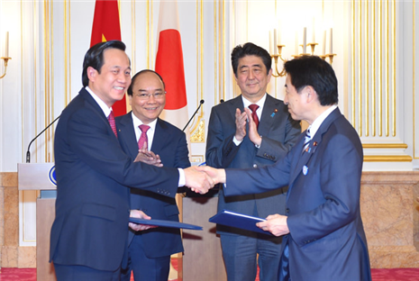 sự hợp tác giữa các bộ ngành hai nước