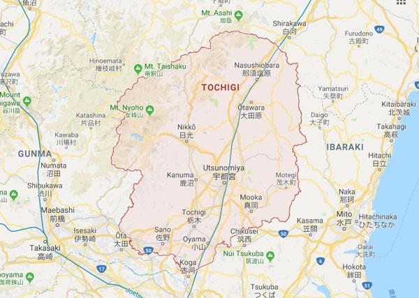 Vị trí địa lý tỉnh Tochigi