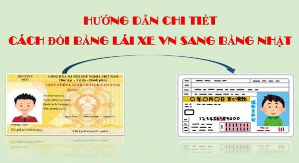 Các bước chuyển đổi bằng lái xe Việt Nam sang bằng lái xe Nhật