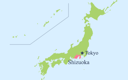 Tỉnh Shizuoka nằm ở đâu