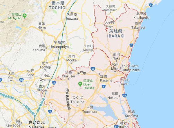Vị trí địa lý tỉnh Ibaraki