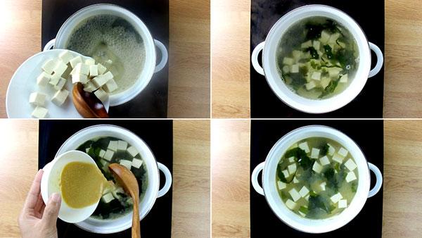 Cách nấu súp Miso với cà rốt chay thực dưỡng