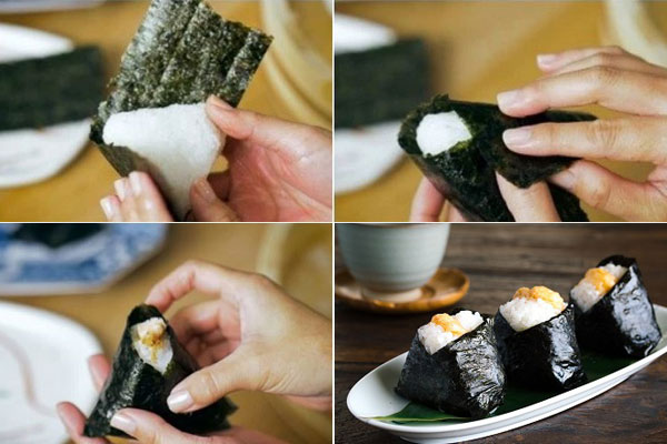 Cách nắn tạo hình cơm nắm Nhật Bản Onigiri