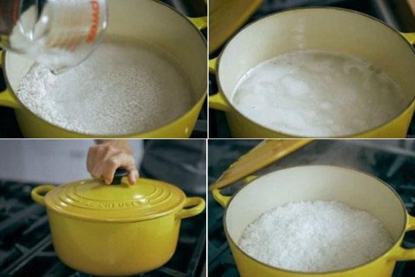Cách nấu cơm gạo Nhật