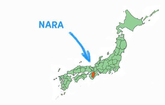 bản đồ tỉnh Nara Nhật Bản