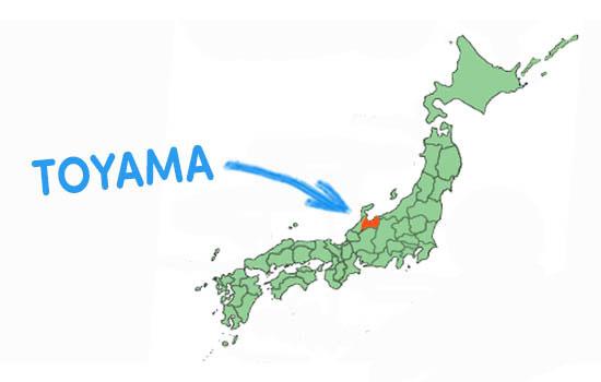 vị trí địa lý Tỉnh Toyama