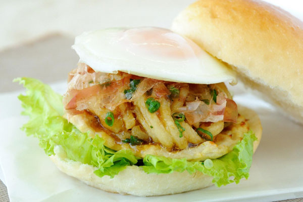 Bánh Hamburger Udon