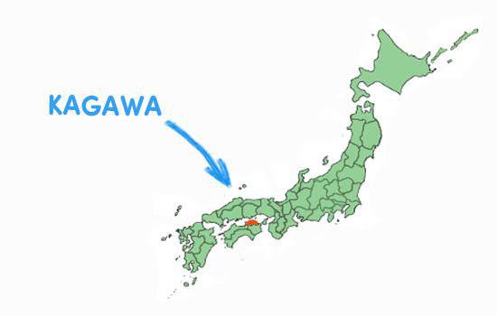 Vị trí địa lý tỉnh Kagawa Nhật Bản