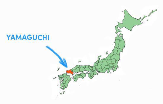 Vị trí địa lý của tỉnh Yamaguchi nhật bản