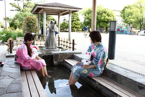 Thị trấn suối nước nóng Yuda Onsen