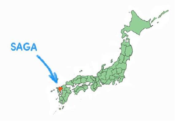 Vị trí địa lý tỉnh Saga Nhật Bản