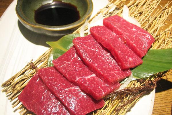 Thịt ngựa sống Uma Sashimi