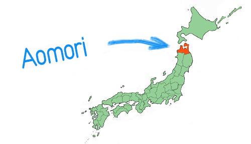 Vị trí địa lý của tỉnh Aomori Nhật Bản