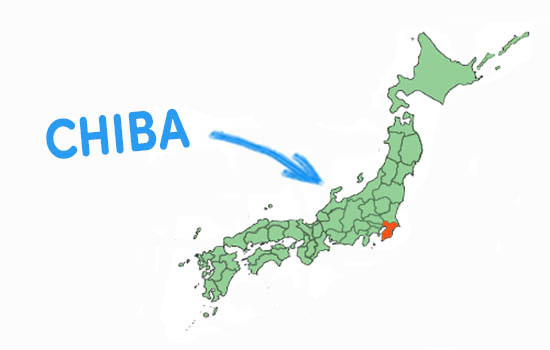 Vị trí địa lý tỉnh Chiba - Nhật Bản