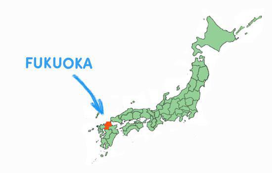 Vị trí địa lý của tỉnh Fukuoka Nhật Bản