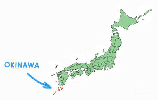Vị trí địa lý tỉnh Okinawa Nhật Bản
