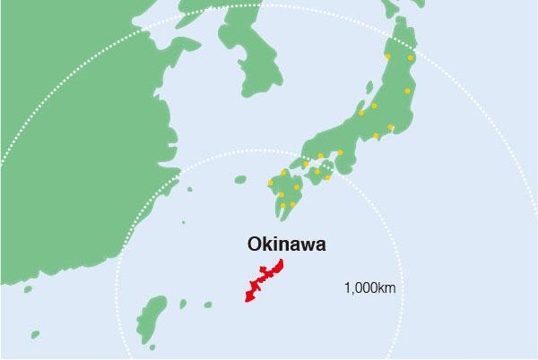 vị trí địa lý vùng okinawa