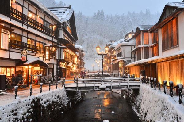 Thị trấn suối nước nóng - Zao Onsen