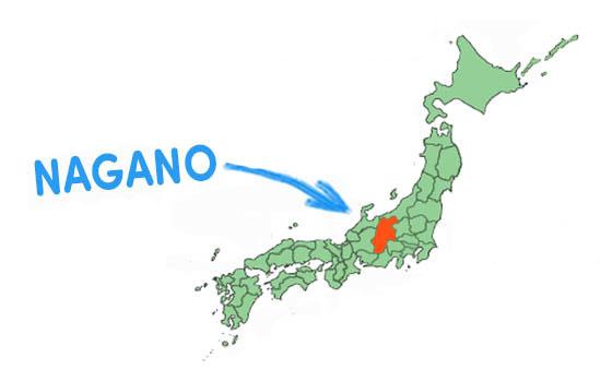 vị trí địa lý tỉnh nagano